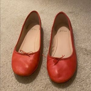 Red/Orange Jcrew Ballet Slippers